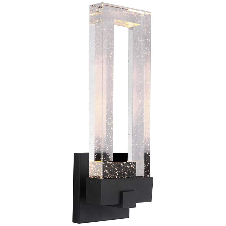 "Cantrell 20 3/4"" High Matte Black LED Outdoor Wall Light more views"