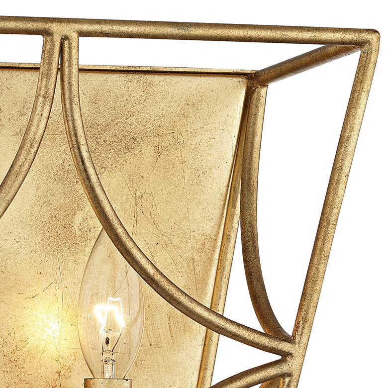 "Hudson Valley Green Point 12""H Gold Leaf 2-Light Wall Sconce more views"