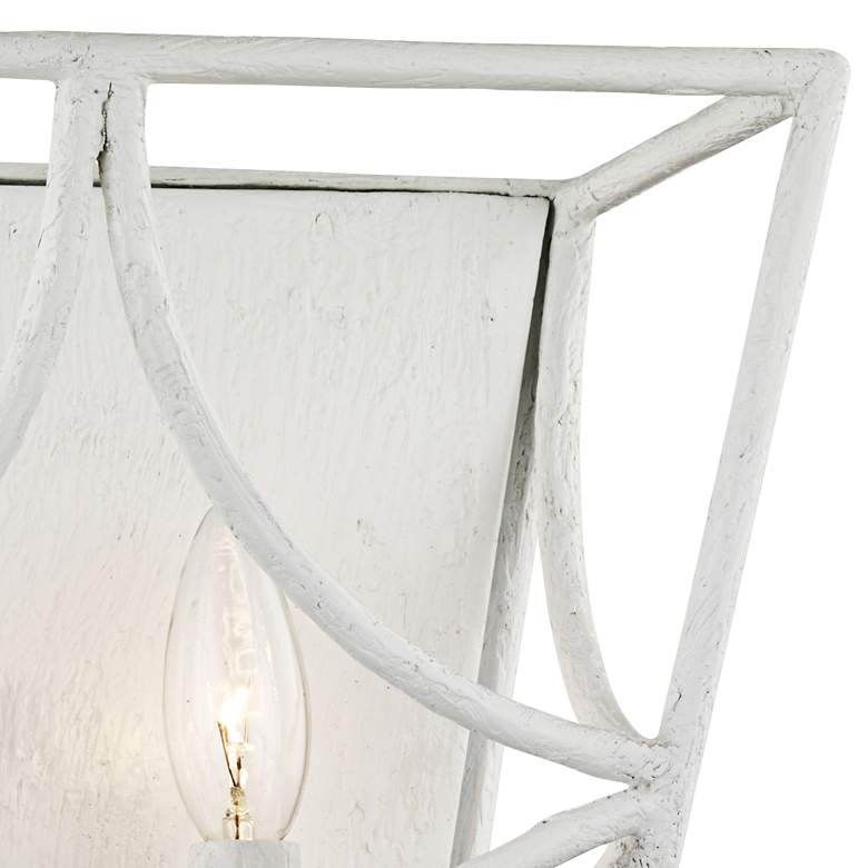 "Hudson Valley Green Point 12"" High White 2-Light Wall Sconce more views"