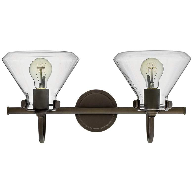 "Congress 19 1/4"" Wide Oil Rubbed Bronze 2-Light Bath Light more views"