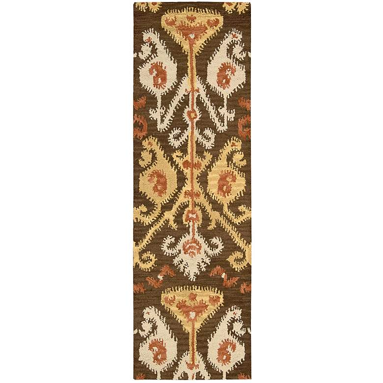 "Nourison Siam SIA02 5'6""x7'5"" Chocolate Wool Area Rug more views"