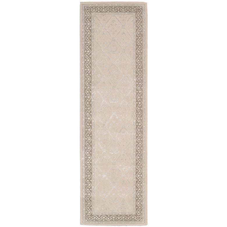 "Nourison Symphony SYM02 5'6""x7'5"" Sand Area Rug more views"