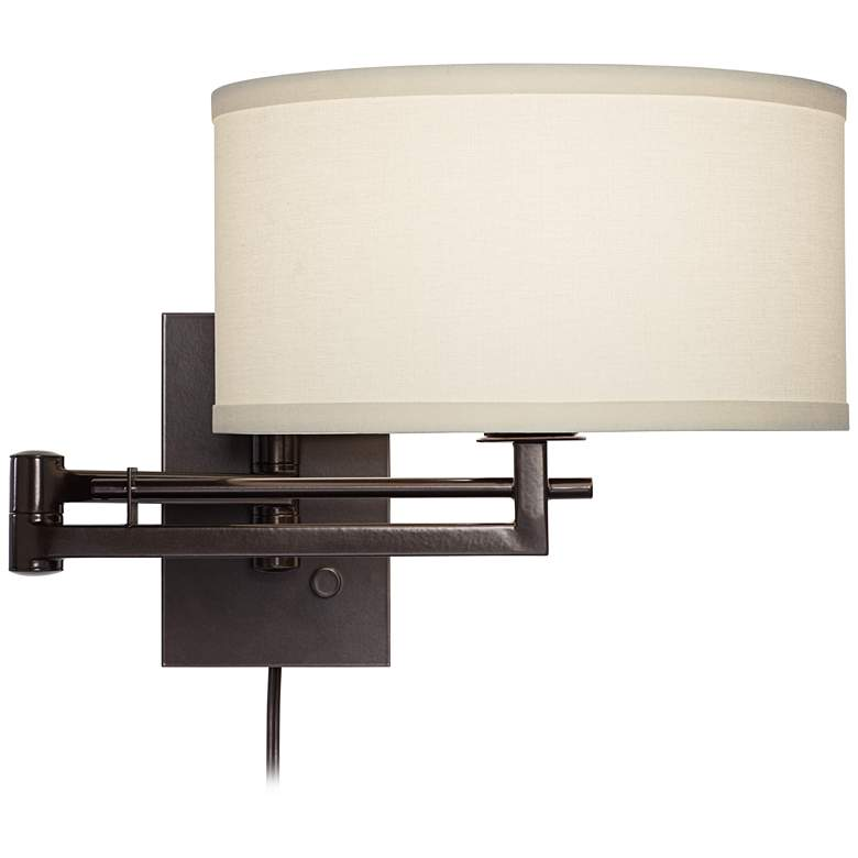 Possini Euro Design Aluno Bronze Swing Arm Wall Lamp more views