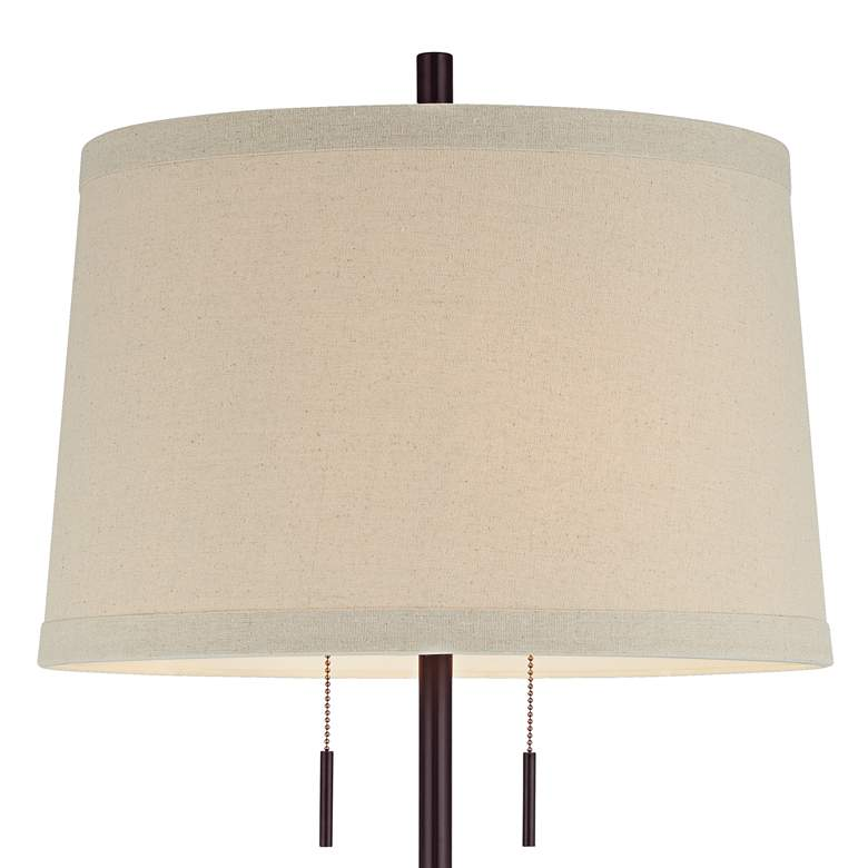 Possini Euro Design Matte Dark Bronze Stick Table Lamp more views