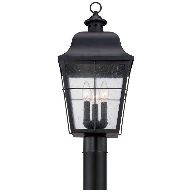 "Quoizel Millhouse 21 1/2"" High Black Outdoor Post Light more views"