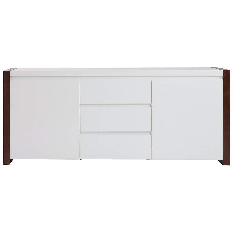 Manon Dark Walnut and White Sideboard more views