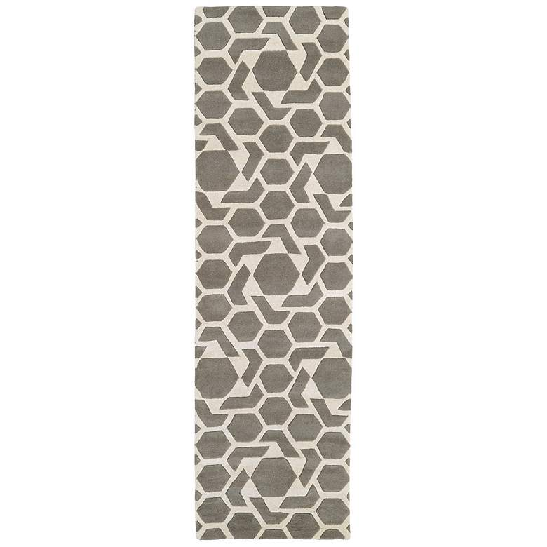 "Kaleen Revolution REV05-75 5'x7'9"" Gray Wool Area Rug more views"