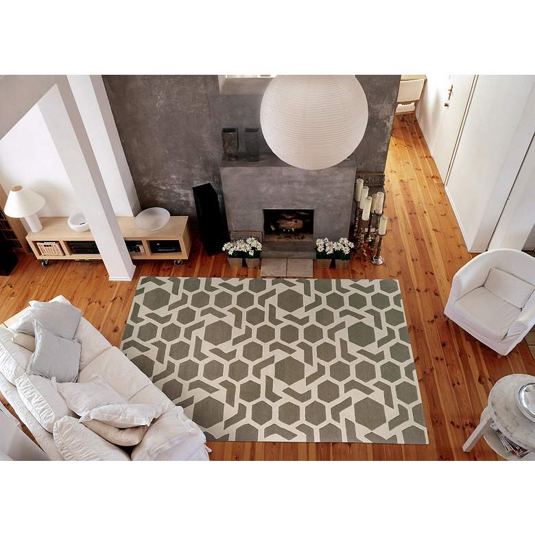 Kaleen Revolution Rev05 75 Gray Wool Area Rug 5k185