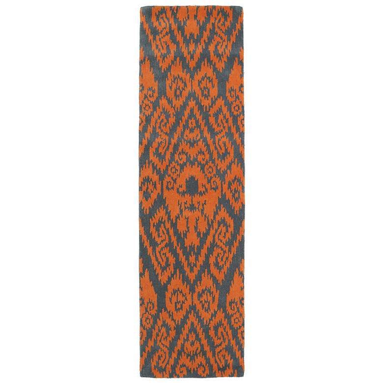 "Kaleen Evolution EVL02-89 5'x7'9"" Orange Wool Area Rug more views"