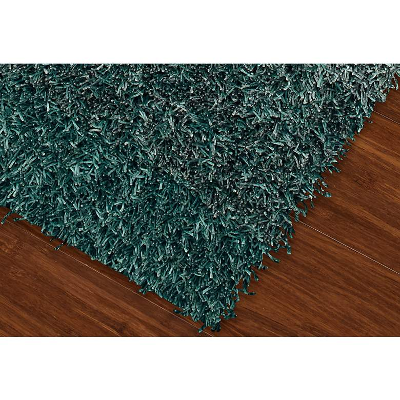 "Dalyn Spectrum SM100 5'x7'6"" Teal Shag Rug more views"