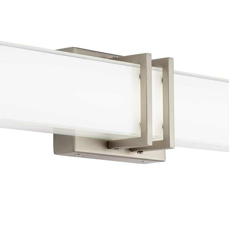 "Possini Euro Exeter 17"" High Nickel LED Bathroom Light more views"