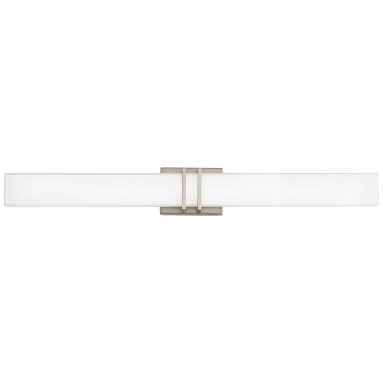 "Possini Euro Exeter 36"" Wide Nickel LED Bathroom Light more views"