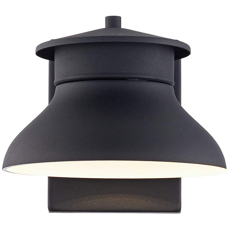"Danbury 6"" High Black Dusk to Dawn LED Outdoor Wall Light more views"