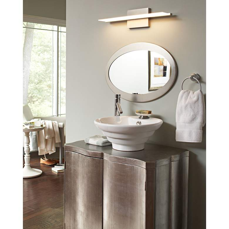 "Tech Lighting Span 24"" Wide Satin Nickel LED Bath Light more views"