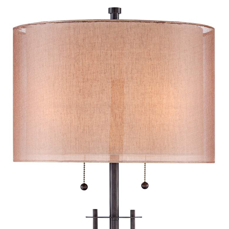 Howell Double Drum Shade Bronze Table Lamp more views