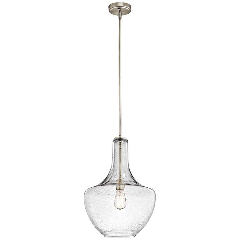 "Kichler Everly 13 3/4"" Wide Brushed Nickel Pendant Light more views"