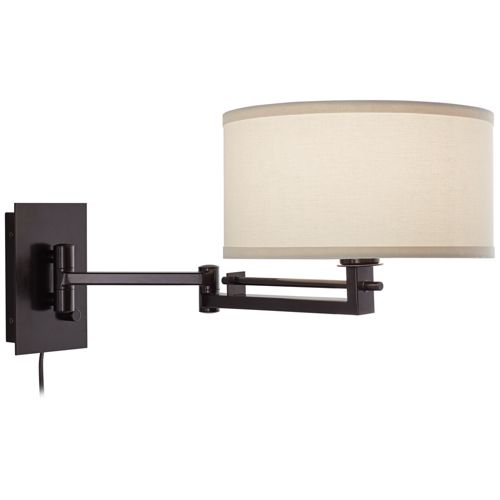 Possini Euro Design Aluno Bronze Swing Arm Wall Lamp