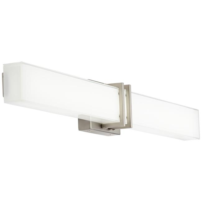 "Possini Euro Exeter 36"" Wide Nickel LED Bathroom Light"