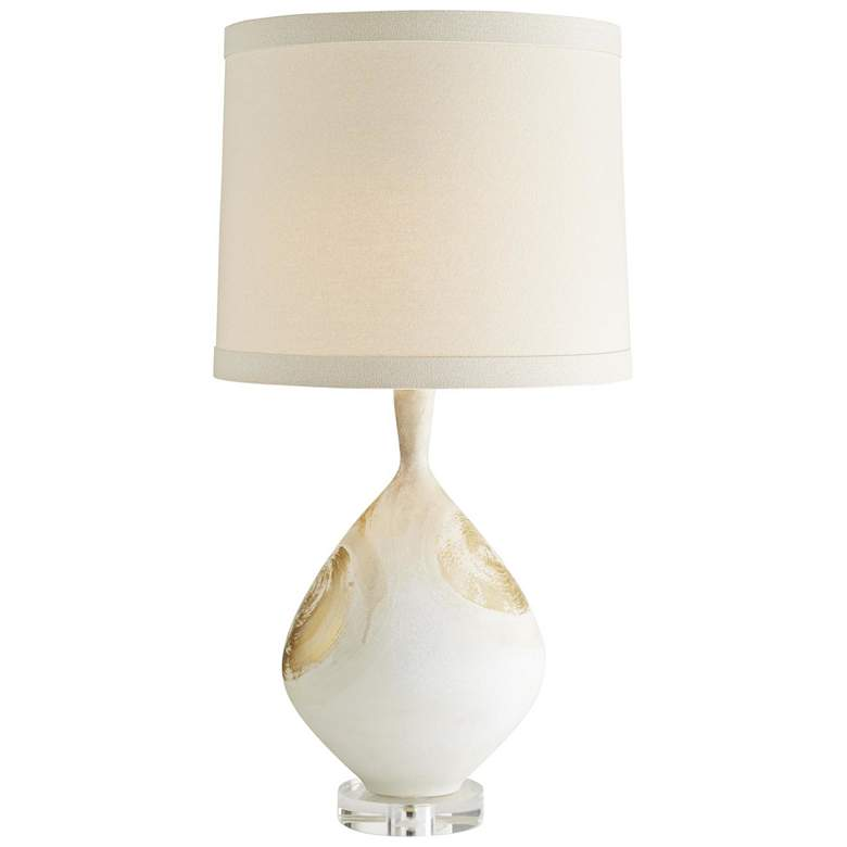 Nanette Satin Papyrus with Gold Accents Porcelain Table Lamp more views