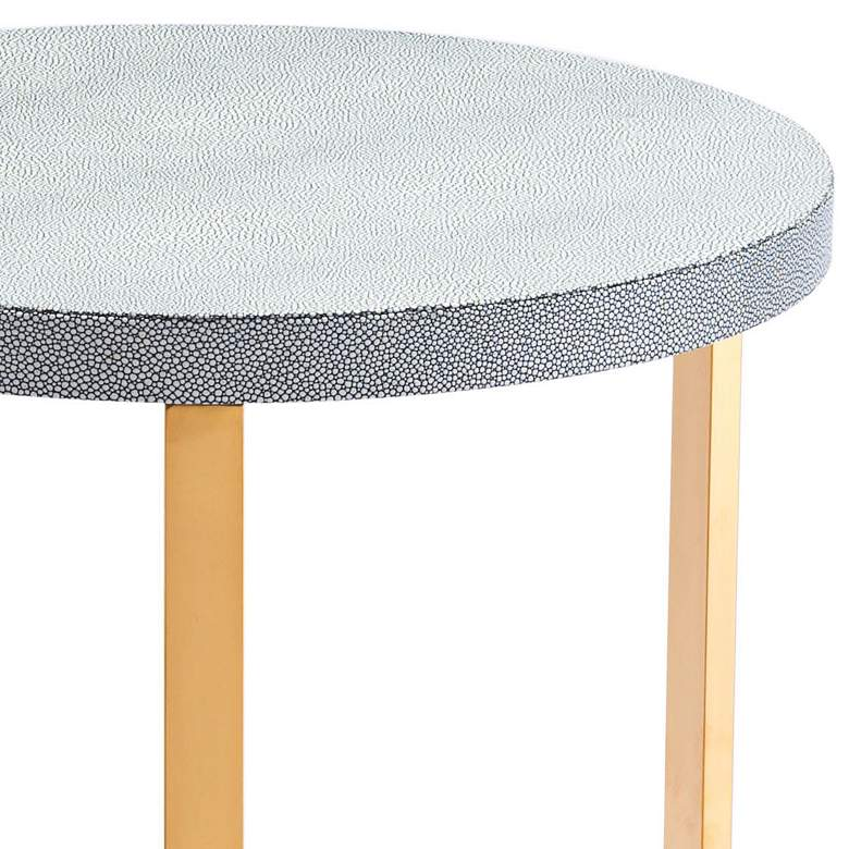 Zuo Gela Gray Leatherette Round Accent Tables Set of 2 more views