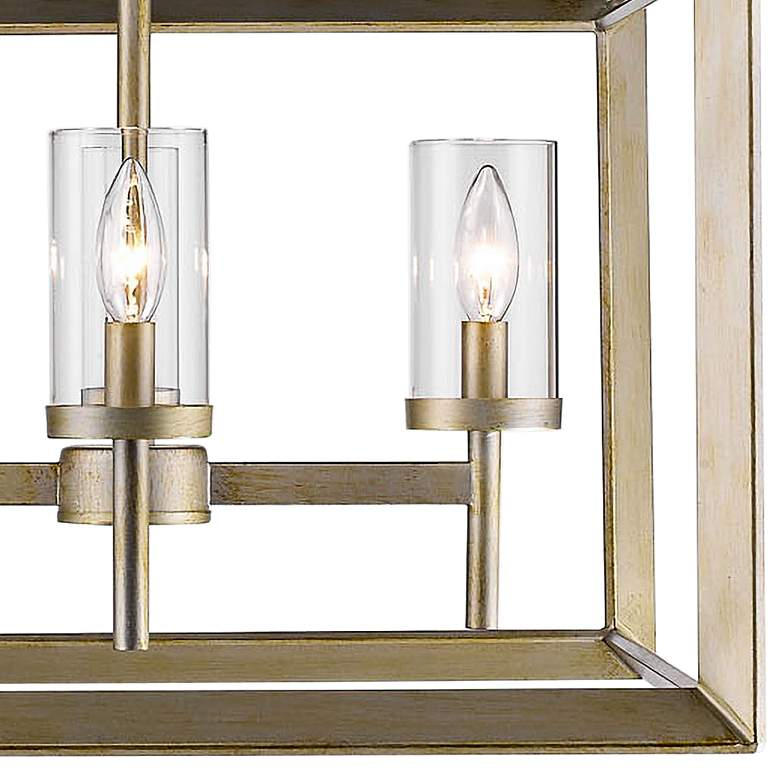 "Smyth 21"" Wide White Gold 4-Light Chandelier more views"