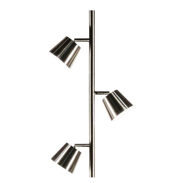 Andrews Satin Chrome Metal 3-Light LED Tree Floor Lamp more views