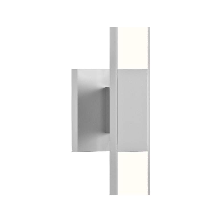 "Planes™ 24 1/4""H Bright Satin Aluminum 2-LED Sconce more views"