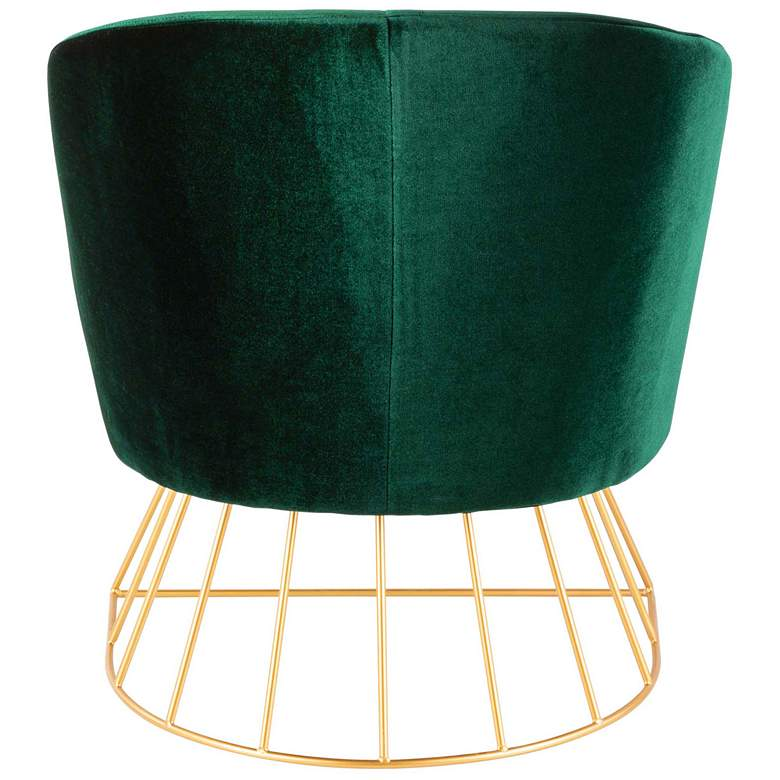 Canary Emerald Green Velvet Accent Chair more views