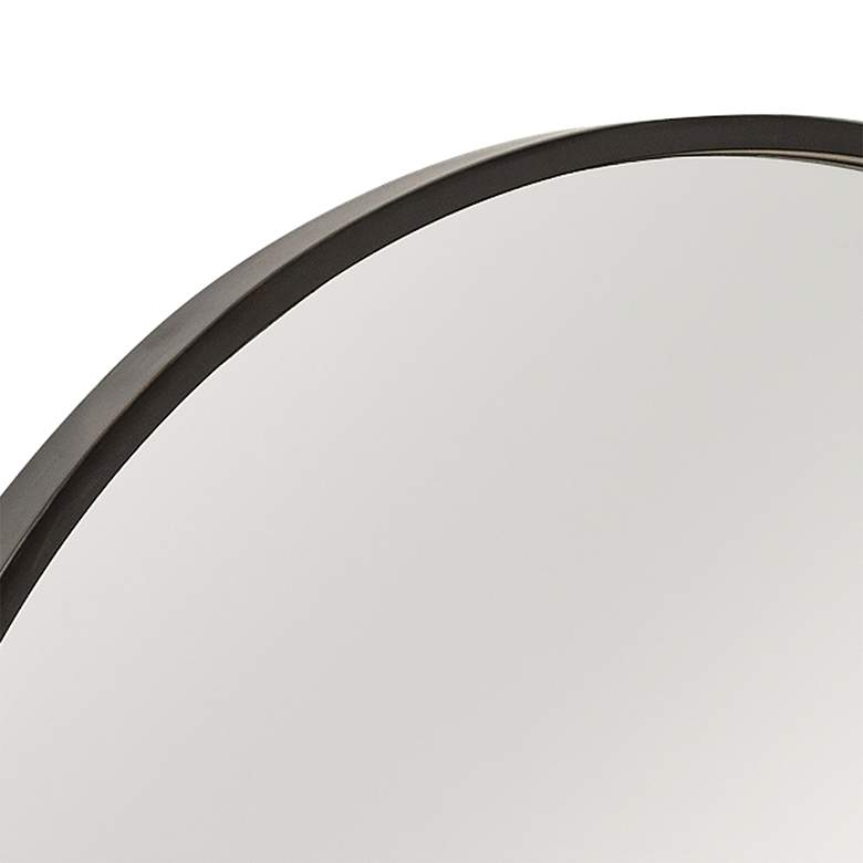 "Cooper Classics Luna Black Matte 30"" Round Wall Mirror more views"