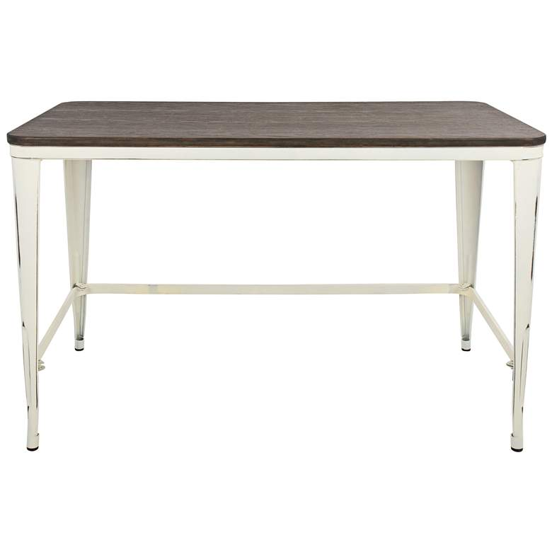 "Pia 47 1/4"" Wide Espresso Bamboo and Vintage Cream Desk more views"