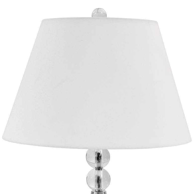 Orbed Satin Chrome Table Lamp with Optical Crystal Accents more views