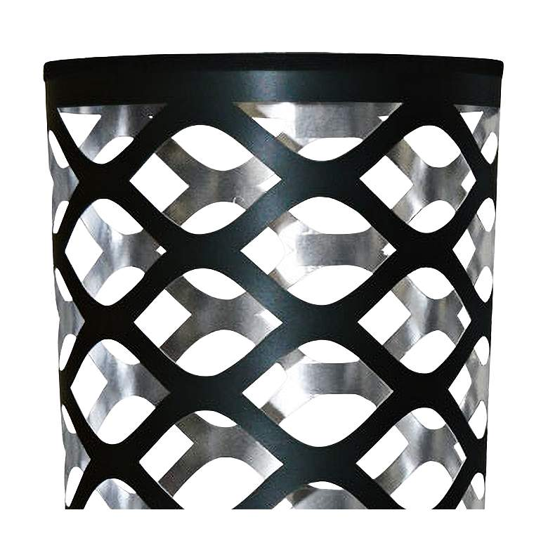 Cut Out JTone Black and Silver Accent Table Lamp more views