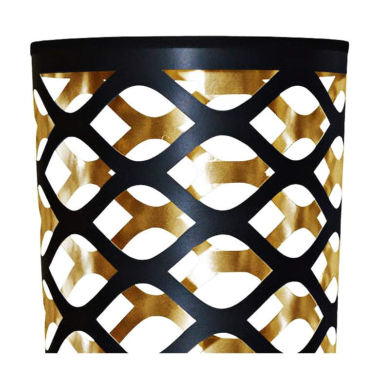 Cut Out JTone Black and Gold Accent Table Lamp more views