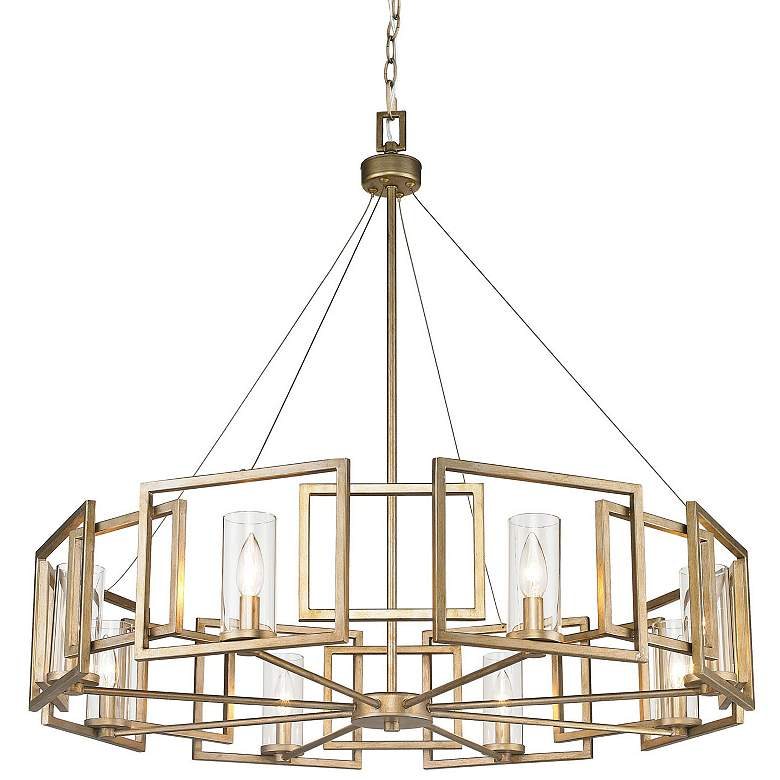 "Marco 35 1/2"" Wide White Gold 8-Light Chandelier more views"