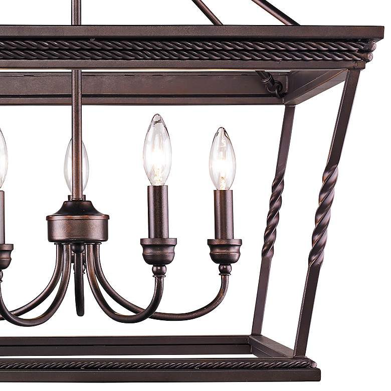 "Davenport 24"" Wide Etruscan Bronze 5-Light Pendant more views"