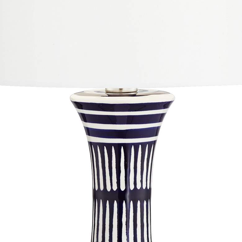 Cleo Dark Blue and White Ceramic Table Lamp more views