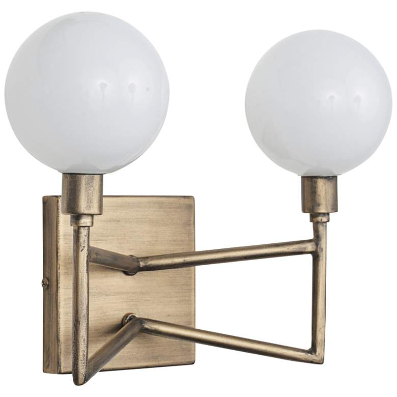 "Varaluz Bodie 5 1/4""H 2-Light Havana Gold Wall Sconce more views"