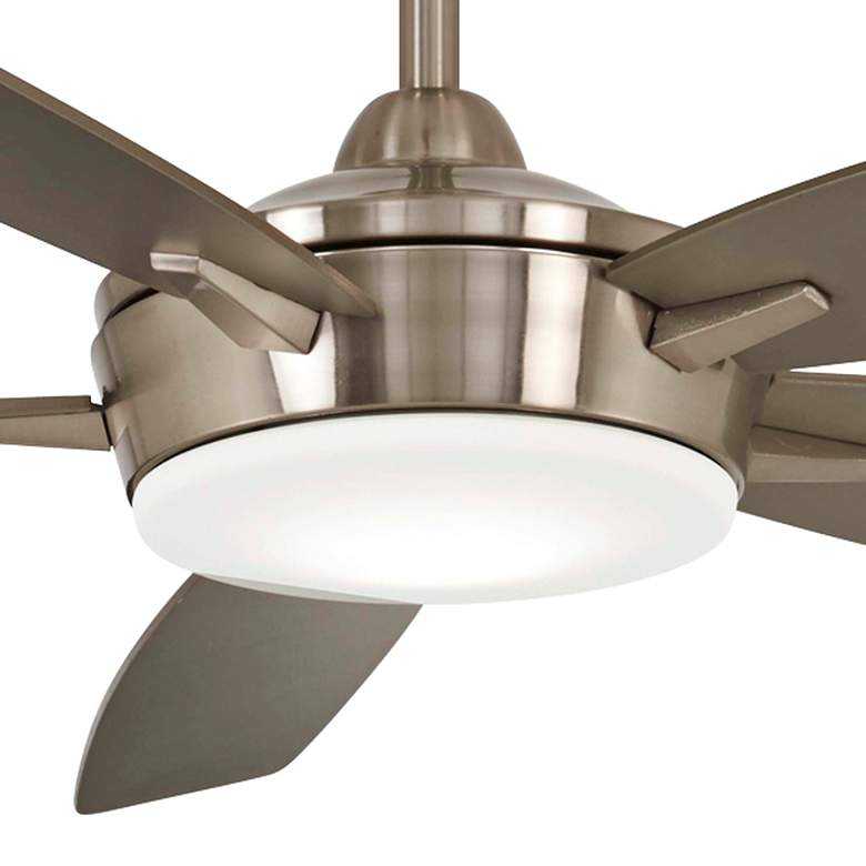 "52"" Minka Aire Espace Brushed Nickel LED Ceiling Fan more views"