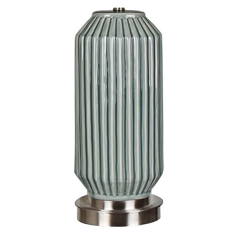 Crestview Collection Paige Blue and Gray Ceramic Table Lamp more views