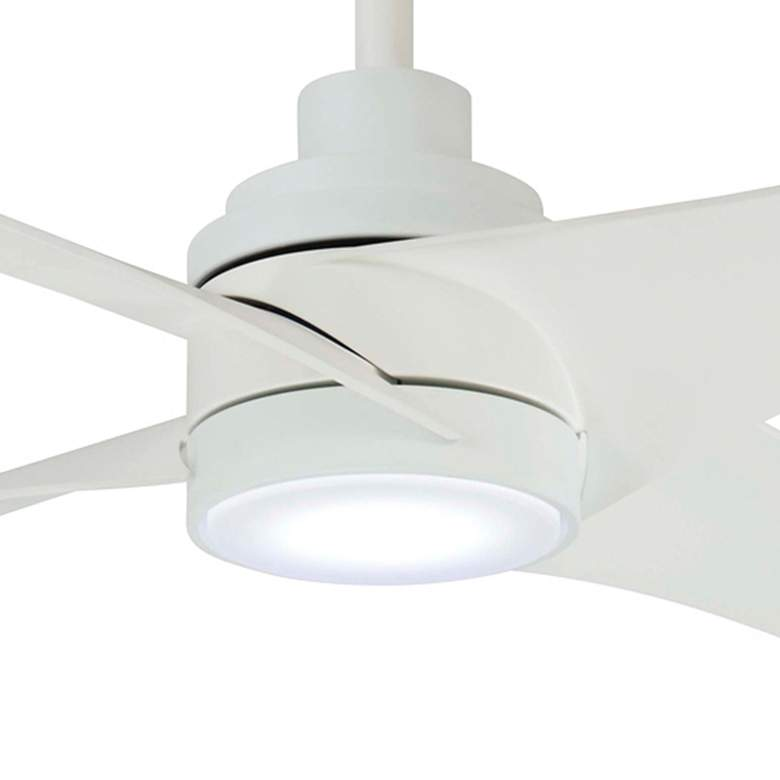 "56"" Minka Aire Swept Flat White LED Ceiling Fan more views"
