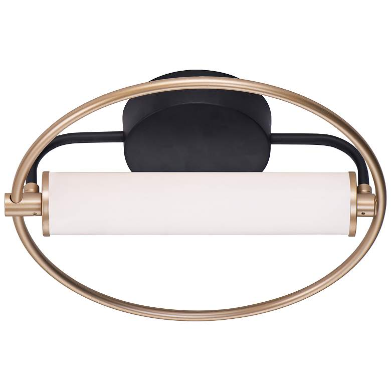 "ET2 Flare 12"" High Soft Gold and Black LED Wall Sconce more views"