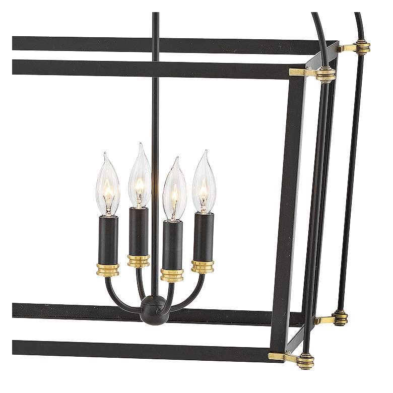 "Hinkley Selby 34"" Wide Black 8-Light Open Frame Chandelier more views"