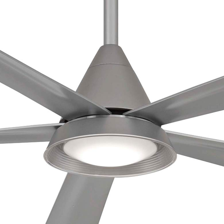 "54"" Minka Aire Cone Silver Wet LED Ceiling Fan more views"