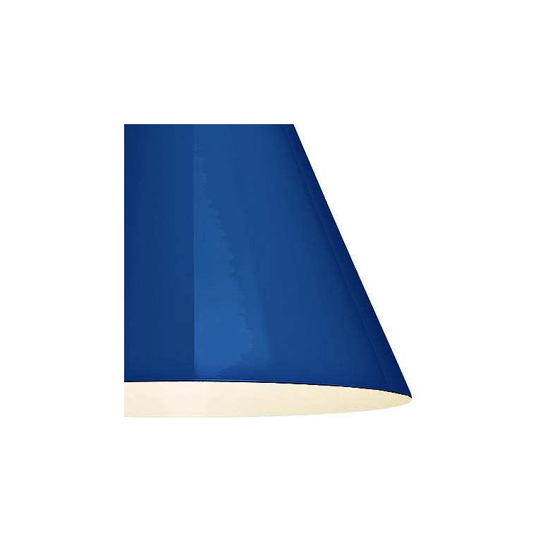 "RLM Mid-Century 15 1/4""H White and Blue Outdoor Wall Light more views"