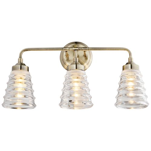 "Varaluz Amherst 22"" Wide 3-Light Antique Brass Bath Light"