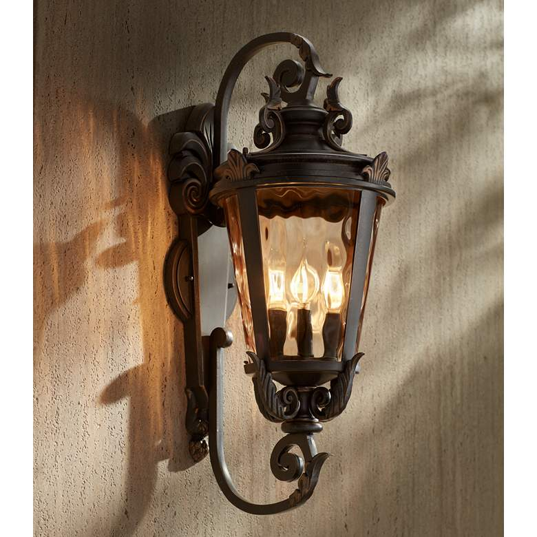 "Casa Marseille™ 27 1/2"" High Bronze Outdoor Wall Light more views"