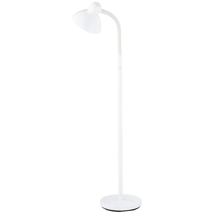 Adjule Gooseneck Arm Floor Lamp In