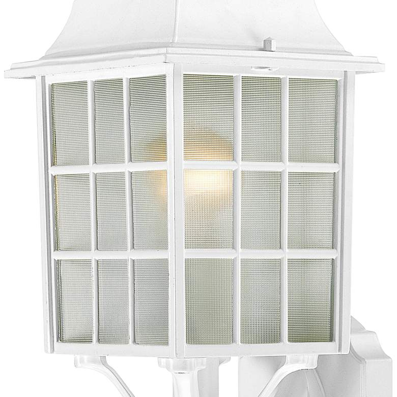"Satco Adams 18 1/4"" High White Outdoor Wall Light more views"