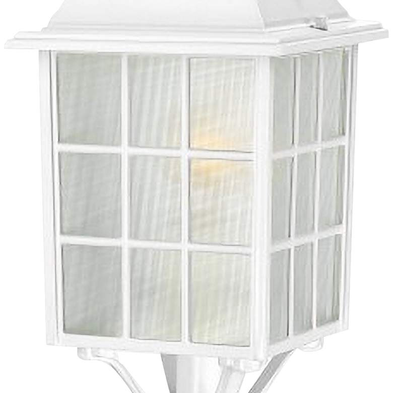 "Satco Adams 18 1/4"" High White Outdoor Post Light more views"