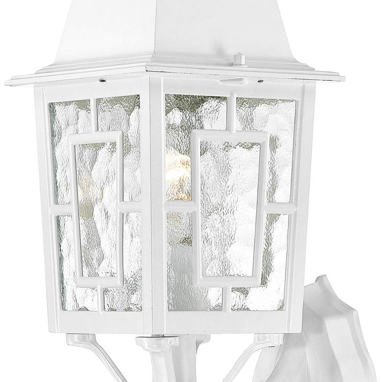 "Satco Banyon 17"" High White Outdoor Wall Light more views"